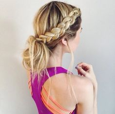 6 Easy And Practical Hairstyles For Working Out Creative Game