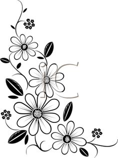 1000+ images about Stencils (flowers, trees, plants) on