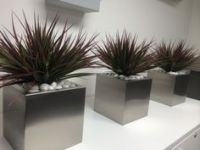 Textured Stack displays in an indoor office setting with ...
