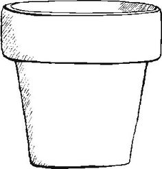 Vase pattern. Use the printable outline for crafts