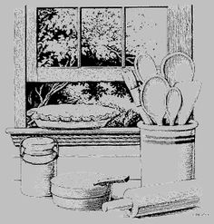 Busy farm-wives would set a fresh baked pie on the window
