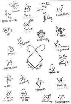 Runes, Mortal instruments and Mortal instruments tattoo on