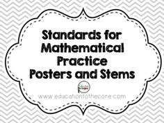 Here's a poster outlining the 8 standards for mathematical