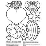 Crayola coloring page pattern for felt creations. Flower