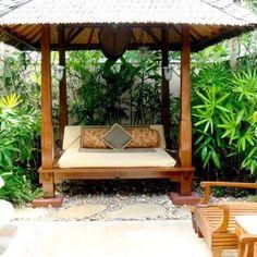 Tropische Aziatische Bali Tuin Tropical Asian Garden