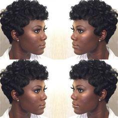 Pin Curls Short Hair Black Women Hair That Rocks Pinterest