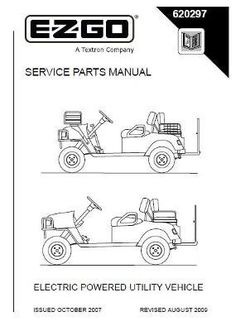 EZGO 605878 2005 Service Parts Manual for Cushman Titan