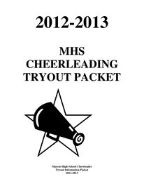 Cheer Tryout Packet 2012-2013 final- I like that it says