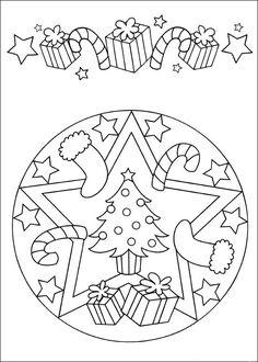 Hidden Santa Picture Coloring Page Printout. More fun