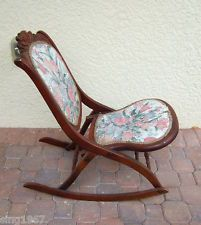 antique folding rocking chair value comfortable computer chairs 1000+ images about ladies sewing rocker on pinterest | chairs, rockers and antiques