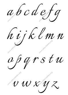 Alphabet STENCIL Fancy Script 4