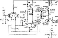 High Power 2200W Amplifier Circuit transistor amplifier