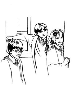 1000+ images about Harry Potter Colouring pages/stencils