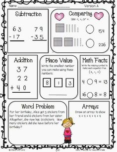 2nd Grade Math Worksheets Greater Than Less Than Equal to