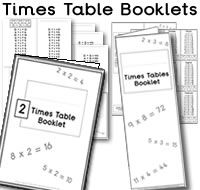Multiplication Tables Printable on Are A Form Of Puzzles
