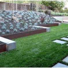 Steel Steps Created Out Of Corten Steel Garden Edging Garden