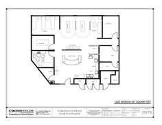 #chiropractic #Floorplan with Semi Open Adjusting