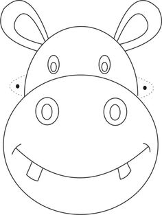 Prinable Cow Head Face Mask to Color and Cut Out
