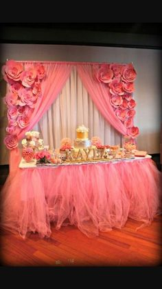 Glam baby shower on Pinterest  Mesas Principal and