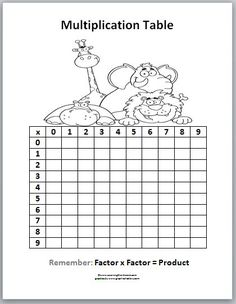 multiplication drill sheets 4 times table test 3