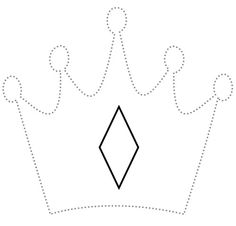 1. Print out 2-3 copies of the Create a Crown coloring