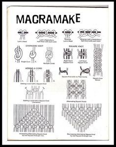 Macrame Basic Knots. Use this info to make the curtain I