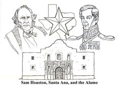 The alamo, Worksheets and Coloring pages on Pinterest