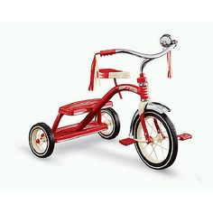radio flyer classic inch red dual deck tricycle