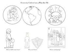 The Plan of Salvation lds clip art diagram by