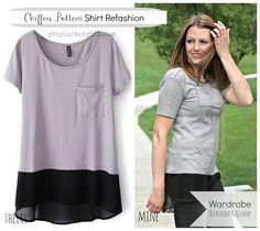 chiffon bottom shirt