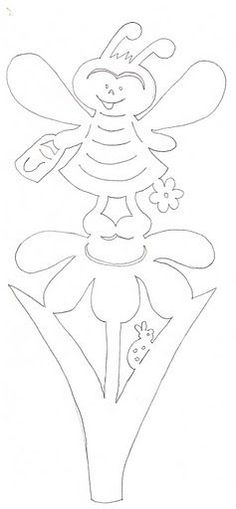 Daffodil pattern. Use the printable outline for crafts