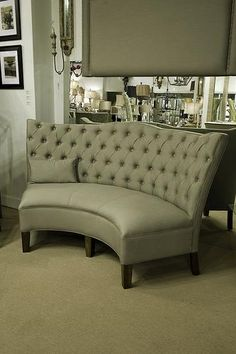 bernhardt sofa leather and fabric will dfs take my old away liliana curved dining banquette | beautiful, chairs ...