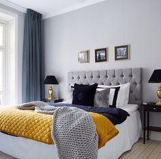 grey and blue decor