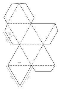 print out 3 cubes, cut, fold and write letters, blends