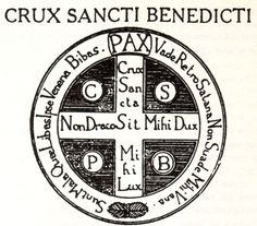 Ceramic Cross of St. Benedict made by the Benedictine