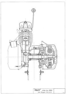 Velosolex 3800 motorplanche .. Moteur 3800 éclaté #