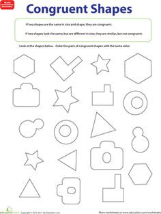 Shape Basics: Congruent Shapes