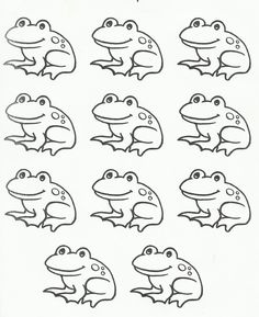 Frog feet pattern. Use the printable outline for crafts