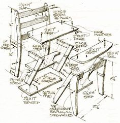 folding chair racks diy dining seat covers walmart how to build a table: simple woodworking project | desk plans, cat tree condo and ...