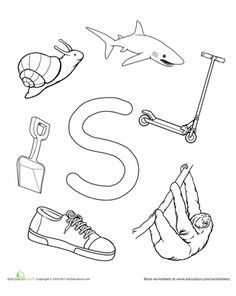 My A to Z Coloring Book. Links to all 26 letters on this