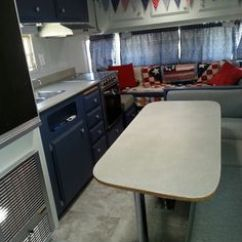 Turquoise Kitchen Appliances Chalkboard For 1974 Terry Travel Trailer Remodel Plan On Pinterest ...