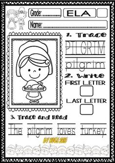 1000+ images about Thanksgiving Worksheets on Pinterest