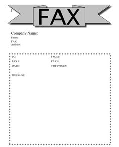 This printable fax cover sheet covers all the bases, with