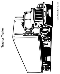 Tractor Trailer Coloring Page