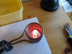 Plans at httpinductionheatertutorialcom This is a 3kw induction heater melting zinc  Resource Metal  Pinterest  Metals Change 3 and