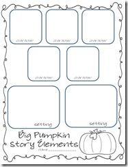 THREE FREE printables to match the story big pumpkin
