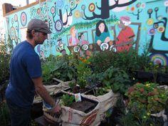 Community Garden Atlanta Garden Structures & Garden Art