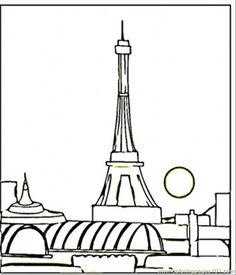 Print coloring page and book, Arc De Triomphe France