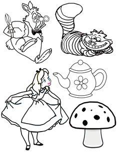 Alice in wonderland sketch process for a tattoo design