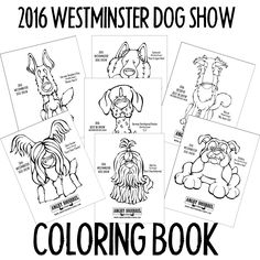 FREE: 2016 Westminster Dog Show Coloring Book To celebrate